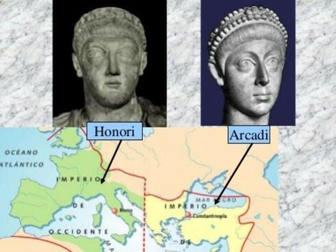 Honori (395-423) i Arcadi (395-408)