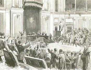 Proclamación de la Primera República.