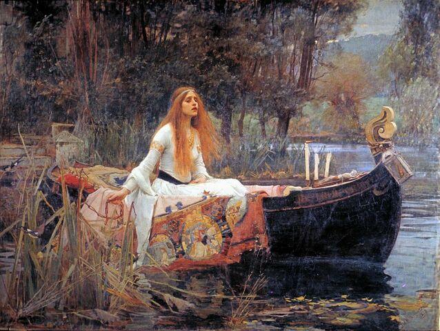 """""""La Dama de Shalott"""" de JOHN W. WATERHOUSE"""