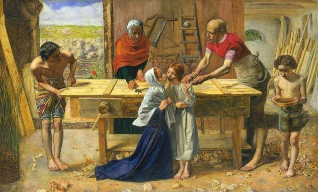 """""""Jesús en casa de sus padres"""" de JOHN E. MILLAIS"""