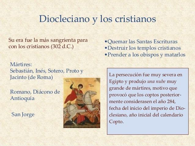 ultima gran persecución de Diocleciano