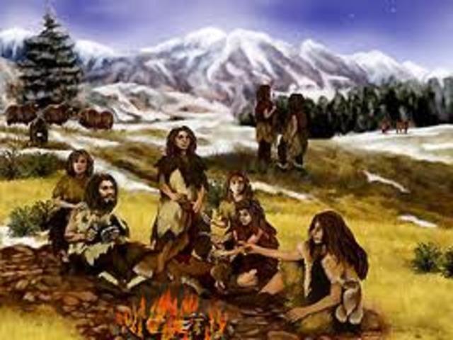 Neanderthals appeared, 200,000 B.C.