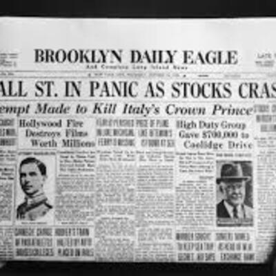 Stock Market Crash timeline