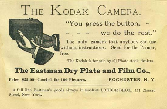 Característiques de la primera càmera Kodak.