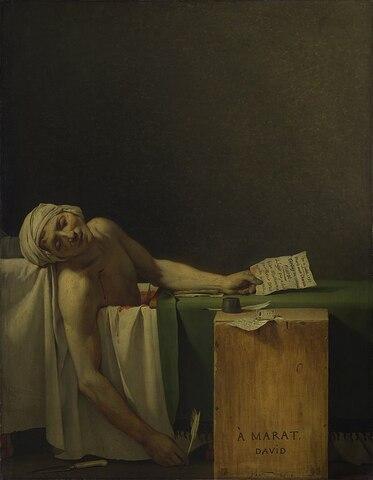 """""""La muerte de Marat"""" de JACQUES LOUIS-DAVID"""