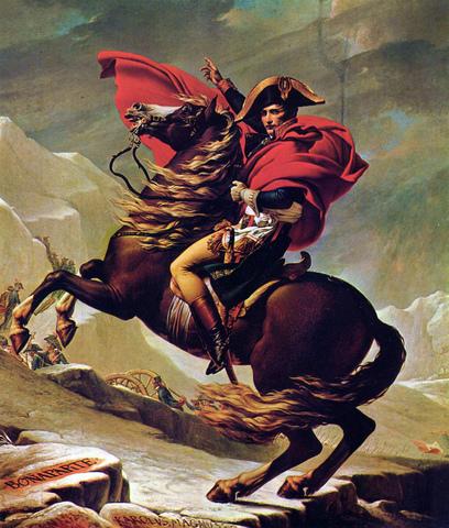 """""""Napoleón cruzando el gran San Bernardo"""" de JACQUES LOUIS-DAVID"""