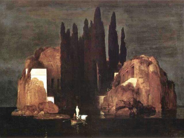 """""""La isla de los muertos""""  de ARNOLD BÖCKLIND"""