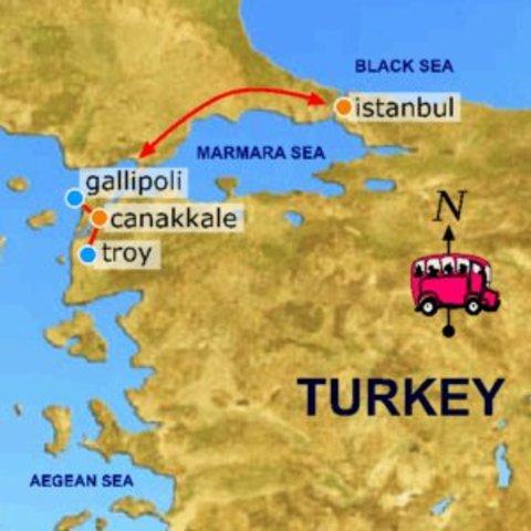 Troops landed in Gallipoli.