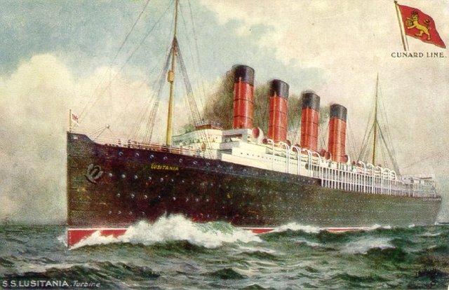 The Germ U-boat sunk the Lusitania.