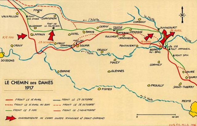Chemin des Dames Offensive ends in disastrous failure for the French having advanced only 500 yards at the cost of 250,000 casualties