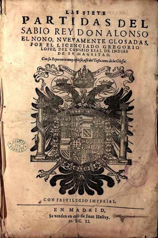 Alfonso X.  Las siete partidas