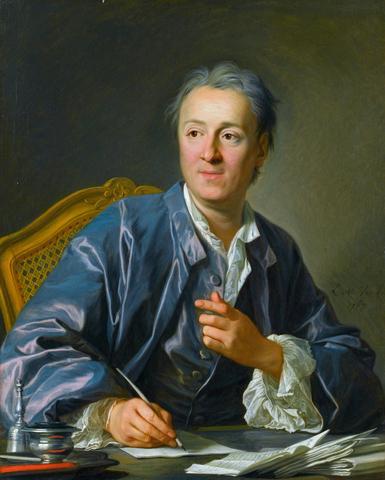"""""""Retrato de Diderot"""" realizado por LOUIS-MICHEL VAN LOO"""