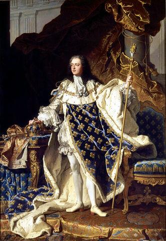 """""""Retrato de Luis XV"""" por RIGAUD"""