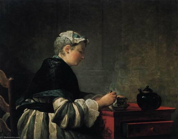 """""""Mujer tomando un té"""" de CHARDIN"""