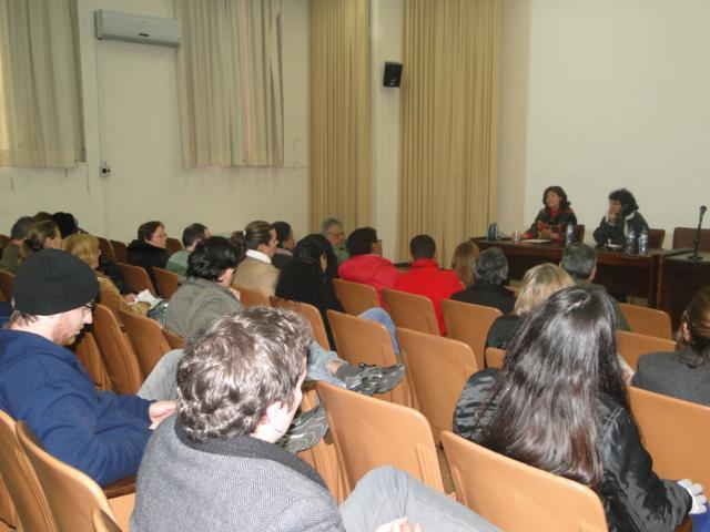 Palestra sobre Economia Solidária