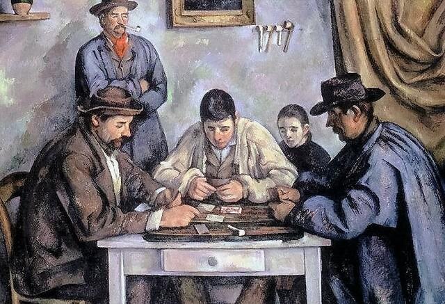 """""""Jugadores de cartas""""  de CEZANNE"""