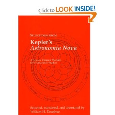 Kepler describes an elliptical path of Mars