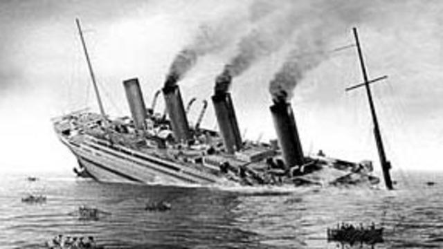 HMHS Brittanic Sinks