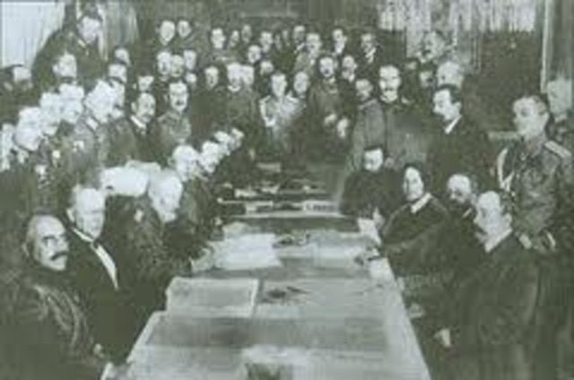 Russia Signs an Armistice with Germany