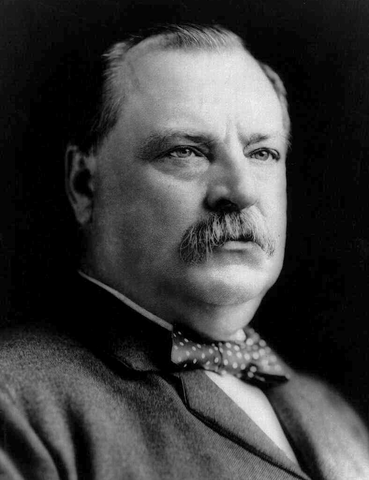Grover Cleveland becomes president
