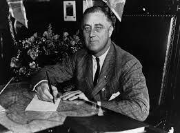 Franklin Roosevelt elected President (1st time)