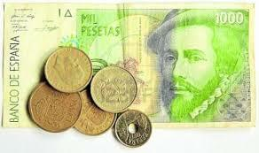 La peseta moneda única de España. (octubre)