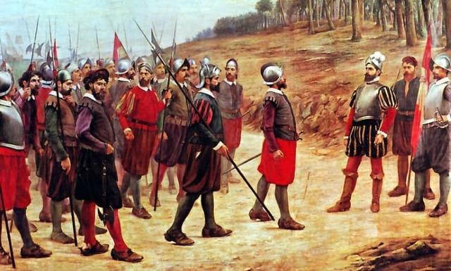 Llegada de los primeros conquistadores españoles a México