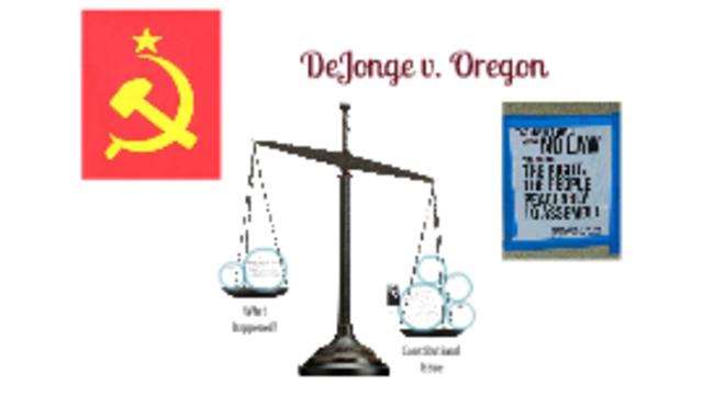 De Jonge v Oregon