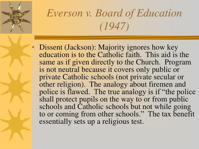 Emerson v Board of Education