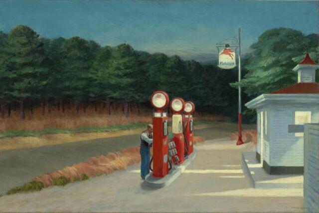 """Gas Station"" de Edward Hopper. (MoMA, New York)."