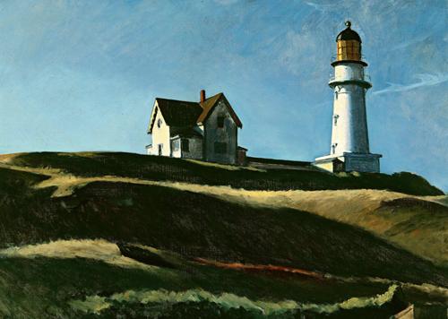 """""""The Lighthouse Hill"""" (La colina del Faro) de Hopper."""