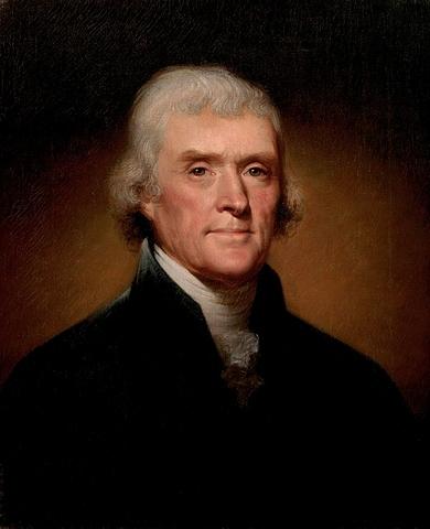 Thomas Jefferson. (1743-1826).- 3º Presidente de los Estados Unidos.
