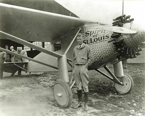 """""""Spirit of St. Louis"""" del piloto Charles Lindbergh."""