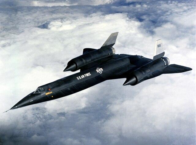 Lockheed A-12. - USAF (Fuerza aérea de los Estados Unidos).