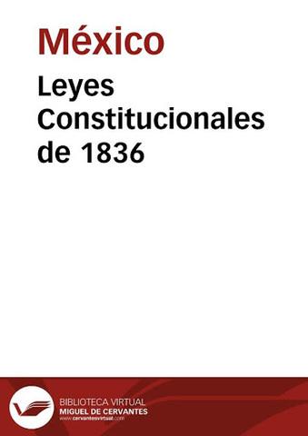 Constitución Centralista de 1836