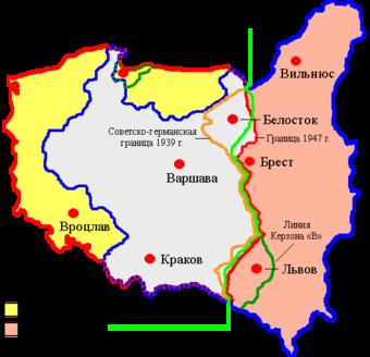 """""""Нота Керзона""""- пропозиція перемир'я і встановлення кордону по т. зв. """"лінії Керзона""""."""
