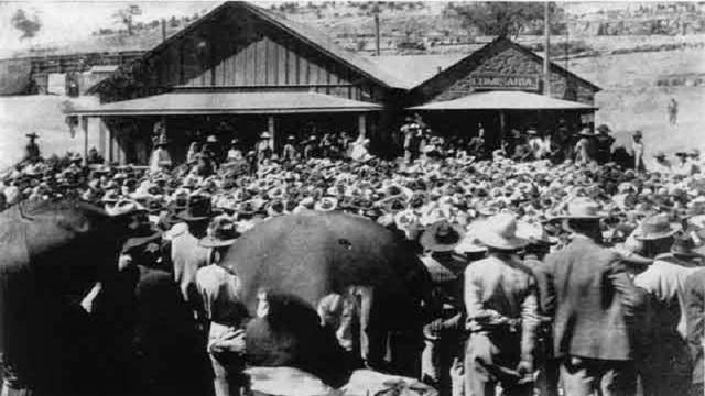 Huelga de Mineros en Cananea