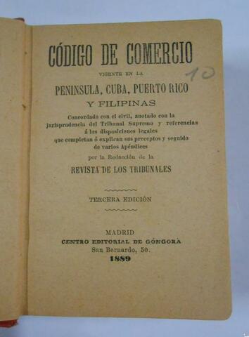 Código de Comercio de 1889