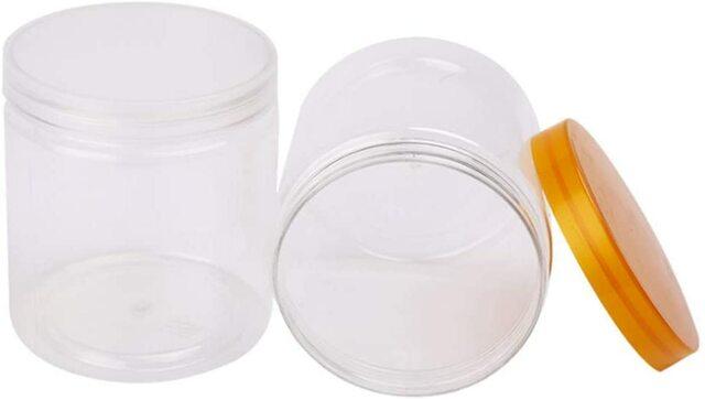 PET jars for peanut butter.