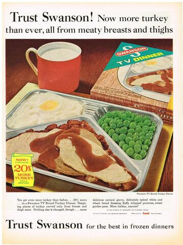 Swanson Invents the TV Dinner