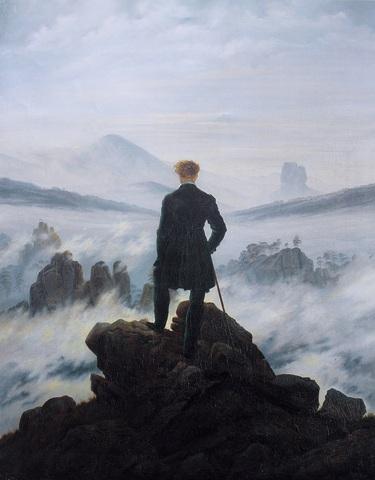 """""""El caminante sobre el mar de niebla"""" de DAVID FRIEDRICH"""