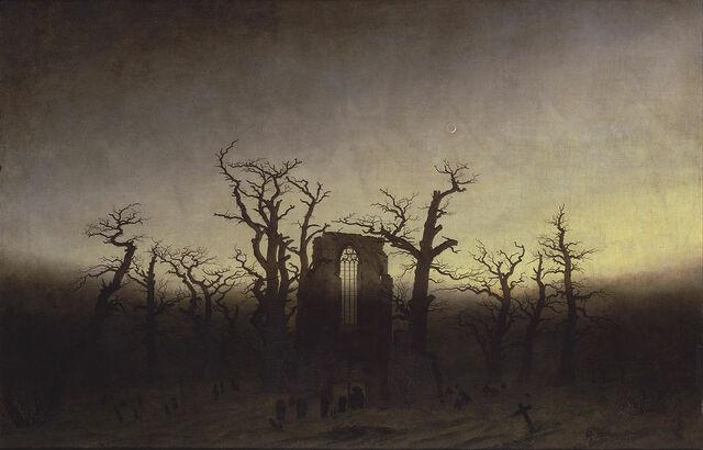 """""""La abadía de Eichwald"""" de DAVID FRIEDRICH"""