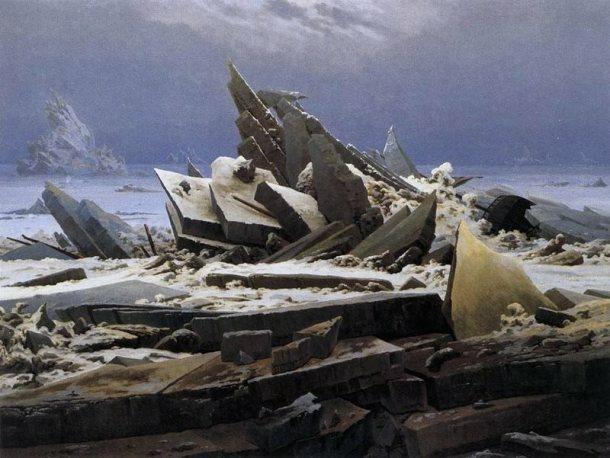 """Mar Glacial"" de D. FRIEDRICH"