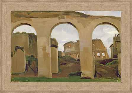 """""""El Coliseo a través de las arcadas de la basílica de Constantino"""" de COROT"""