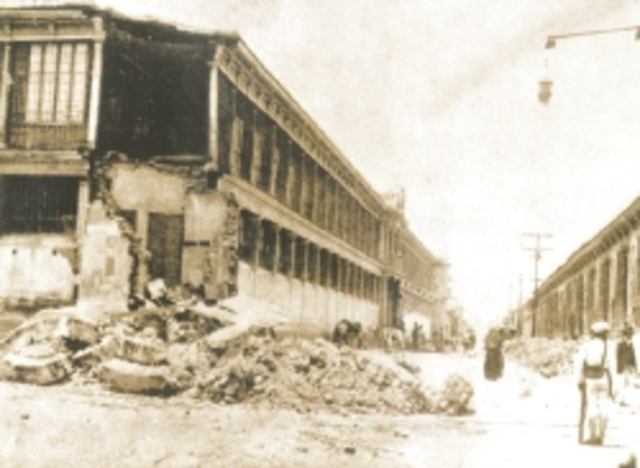 Un terremoto destruye San Salvador.