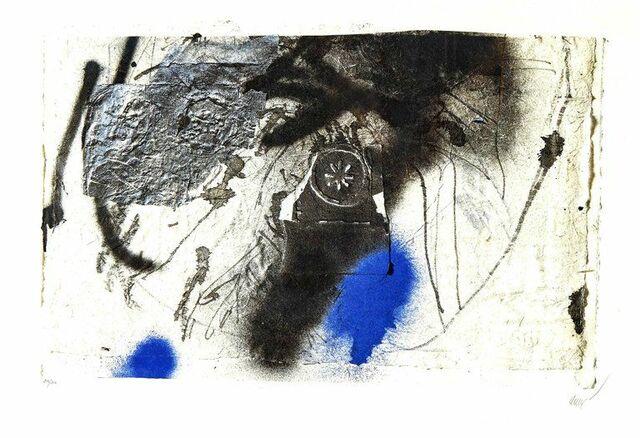 Composición abstracta azul