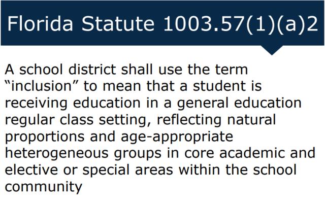 Florida Statute 1003.57