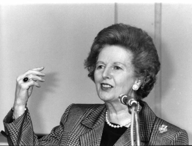 Primera Ministra Margaret Tatcher,