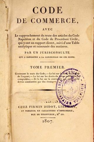 Código de Comercio Napoleonico
