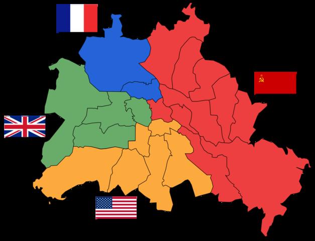 Tyskland ble delt i 4 soner